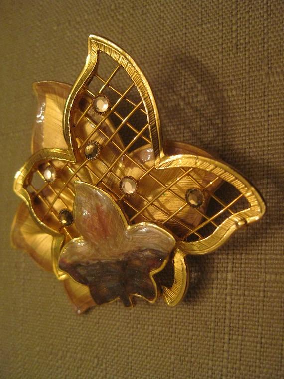 Vintage Bronze Plated Wizard of Oz Dorothy Design Brooch New in Gift Bag