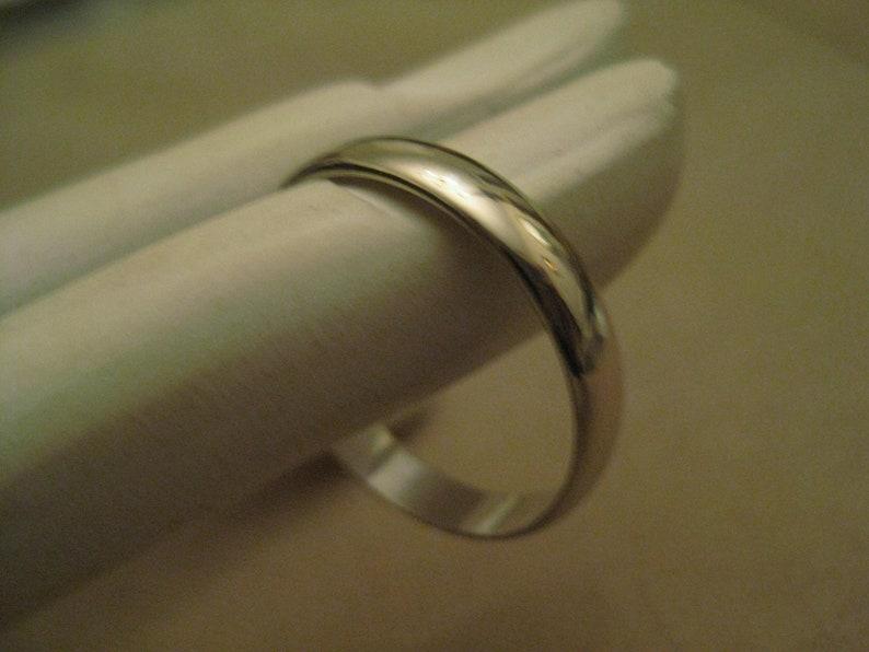 Signed Pms 14k Gold Wedding Band White Gold 14kt Gold Wedding Etsy
