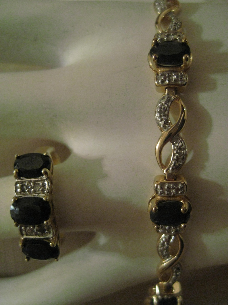 Gentle Gold Plated Bracelet And Matching Earrings Reduced Price Costume Jewellery
