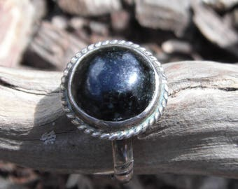 Sterling Silver Moss Agate Ring