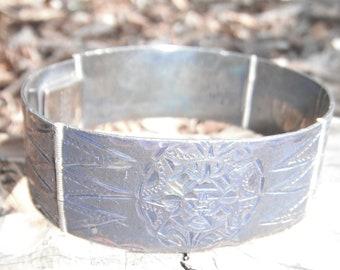 Engraved Sterling Silver Linked Bracelet