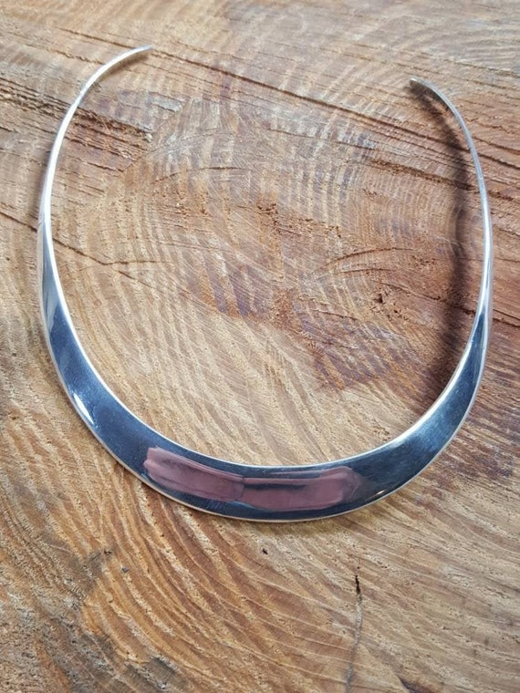 6.2mm Sterling Silver Taxco Choker  Necklace 15