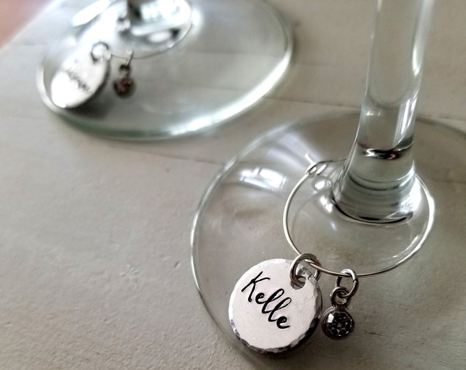 Wine Glass Charms- Bachelorette Party- Wine Lover- Girls Night Gift