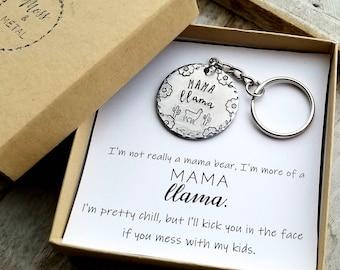 Mama Llama Keychain