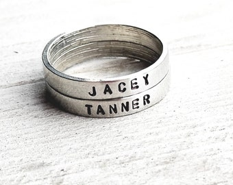 Stacking Name Rings