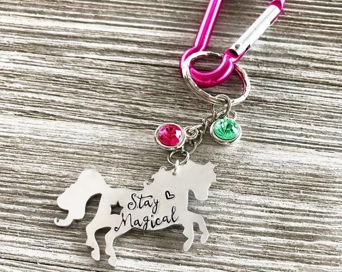 Stay Magical- Unicorn Backpack Tag- Unicorn Keychain