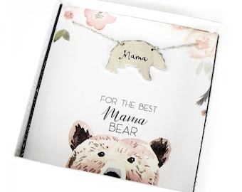 Mom Necklace- Mama Bear- Momma Bear -Gift for Mom- Mothers Day- Present for Mom- Mom Christmas Gift