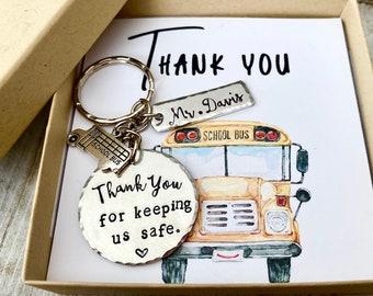 School bus driver keychain