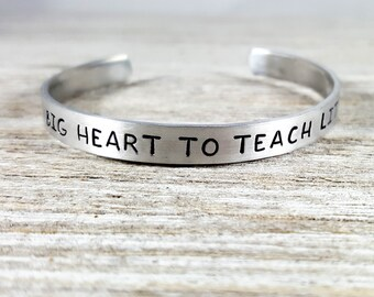Teacher Bracelet- It takes a big heart to teach little minds