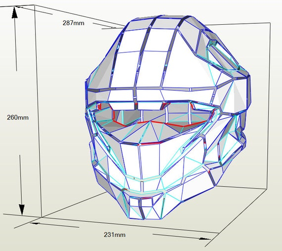 Halo Recon Helmet Pepakura Pattern File
