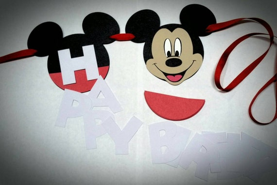 DIY Mickey Mouse Birthday Banner