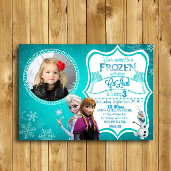 Frozen Birthday Invitation Fever