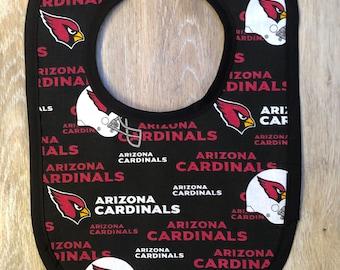 Arizona Cardinals reversible bib for baby