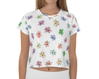 Arm Bow crop tops in Plain Solid colors of your choice