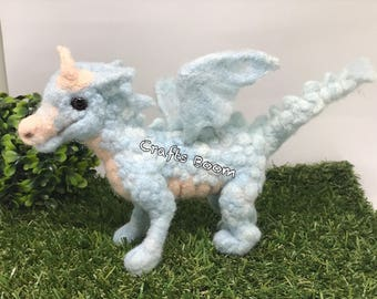 Needle felted Dragon, Fiber Art, Home Decor, Felted Animal, Needle Felting, Soft Sculpture, handmade gift, Interior decor, miniature