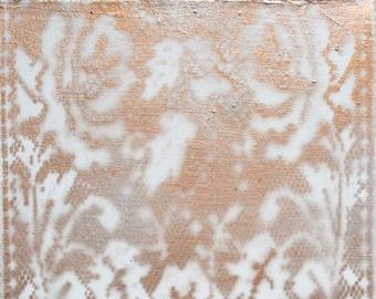 Copper Lace Flower- Canvas