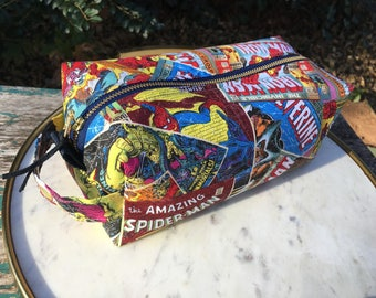 Toiletry Bag - Avengers and Marvel Comics- Graduation Gift - Pencil and Electronics case- Iron Man- Captain America- Hulk- Thor