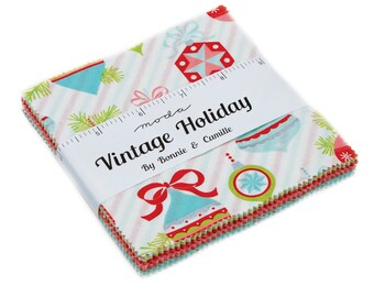 """MODA  """"Vintage Holiday"""" Charm Pack by Bonnie_Camille"""