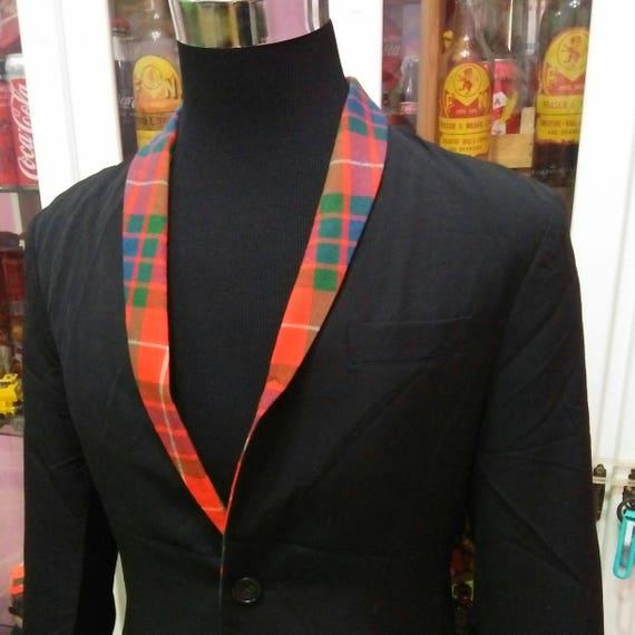 Blazer Y's Coat Yamamoto Yohji Lightweight Designer By Tartan Jacket Rare Legendary Japanese Neck ZqfRwO