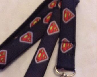 Superman logo leash or collar