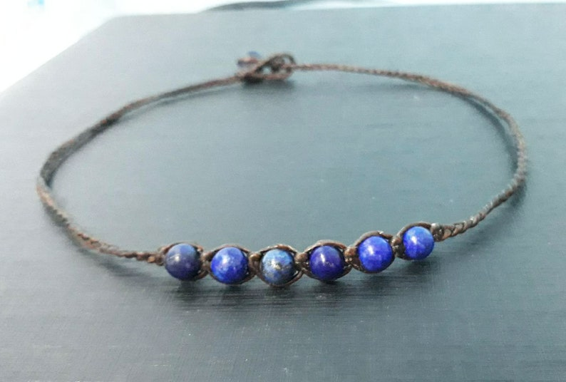 6 mm lapis stone choker necklaces for men and women beaded necklaces blue choker boys choker girl choker fashion choker gift choker