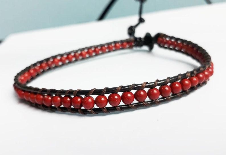 Red jasper anklets,stone anklets,fashion anklets for Men and Women