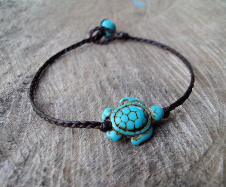 Turtle braceletsTurquoise braceletsBlue braceletsWomen image 0