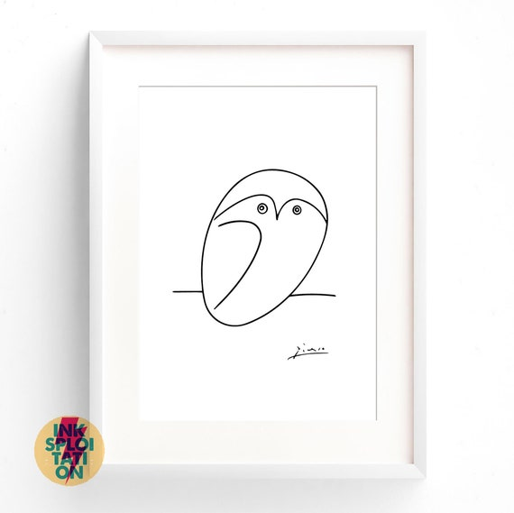 Pablo Picasso Owl Vintage Wall Art Poster Print Picture Giclee Artwork Modern