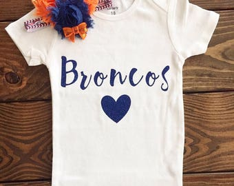 reputable site 40759 d36e3 Denver broncos baby | Etsy