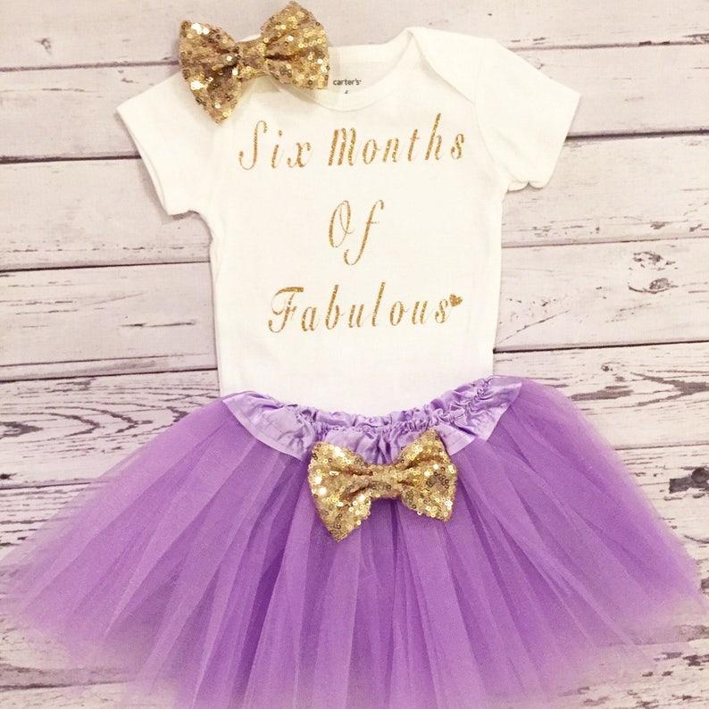 da9d9b6b Baby girl six months of Fabulous Bodysuit 6 month girls outfit | Etsy