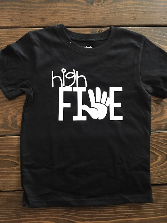 High Five 5th Birthday Boy Shirt Boys Outfit Theme