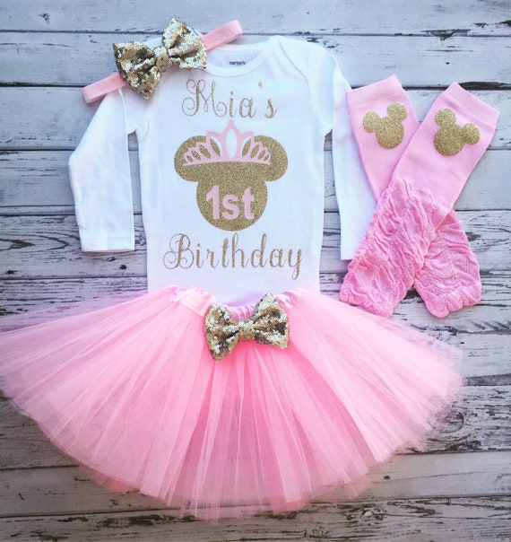 Minnie Mouse 1st Birthday Outfit.Pink And Gold 1st Birthday Outfit Minnie Mouse 1st Birthday Shirt Minnie Birthday Shirt Minnie Mouse 1st Birthday Bodysuit Tutu Toodles