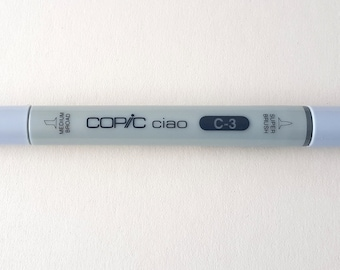 Used, Copic Ciao, alcohol-based, marker, twin-tip, refillable, C-3, Cool Gray No. 3