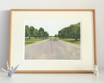 Kensington Gardens, Limited edition, unframed, giclee, archival print, landscape, London, park