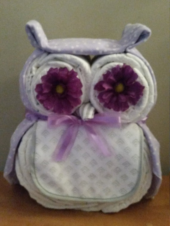 Owl Diaper Cake Owl Baby Shower Owl Baby Shower Ideas Baby Etsy