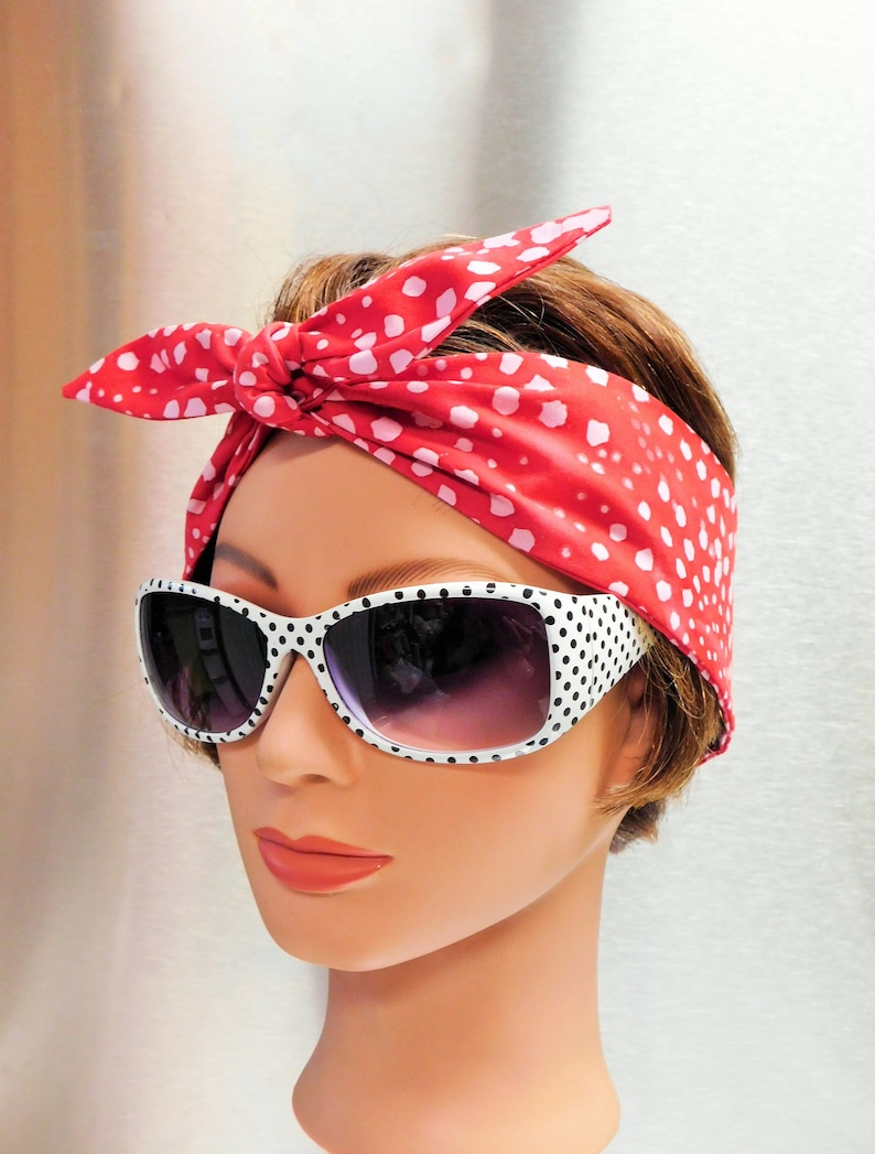 cf324704cc1e Women s Headband 1950s Style Beach Summer Spring Hair