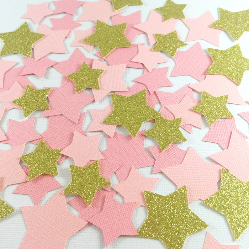12d502498e8 Star Confetti, Pink and Gold, Twinkle Little Star Baby Shower, First  Birthday Girl, Party Decorations, Baby Shower Girl, Birthday Girl, Star