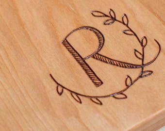 Monogram, Custom Engraved, Laser Engraved, Personalized Board, Letter Engraving, (cutting board NOT INCLUDED)