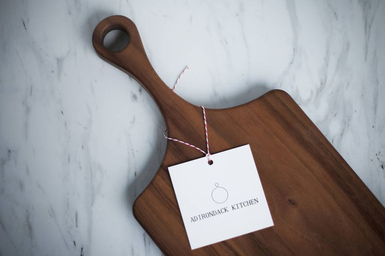 Classic Walnut Wood Cutting Board with Handle Wood Serving image 0