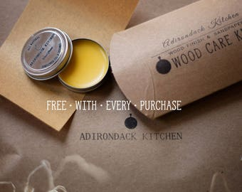 FREE Wood Care Kit with every purchase! Wood Butter - Wood Rub - Wood Protection - Cutting Board Butter