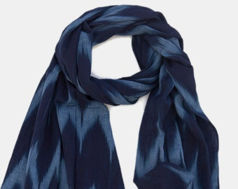 01e5f4a9e9a5f scarf on sale, gift for him, blue scarf, Chevron printed Cotton Scarf, big  size scarf, Unisex Scarf, Men scarf, printed scarf