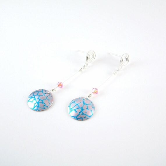 anodised aluminium silver earrings NEW Earrings in sterling silver silver aluminium