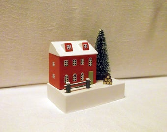 Christmas house, Ornaments, Handmade Christmas, Little Houses, Winter Wonderland, Christmas Gift, Christmas Decor, Snow scene