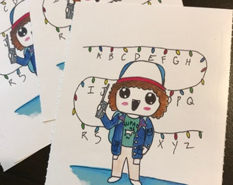 Sticker- Dustin Henderson Stranger Things watercolor