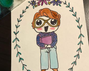 Barb from Stranger Things watercolor