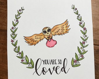 Harry Potter You Are So Loved Nursery watercolor