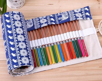 Pencil Roll Case For Back To School | Pencil Case Roll
