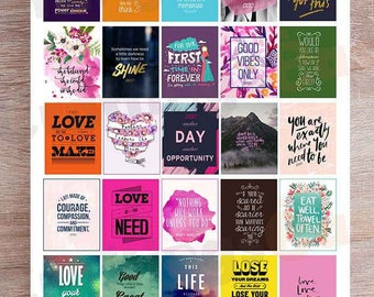 Motivational Inspirational Quotes Printable Planner Sticker Etsy