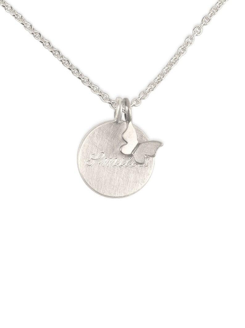 Kette /& Gravur Taufkette,Kinderkette,Gravur Platte mit Schutzengel-Silber 925
