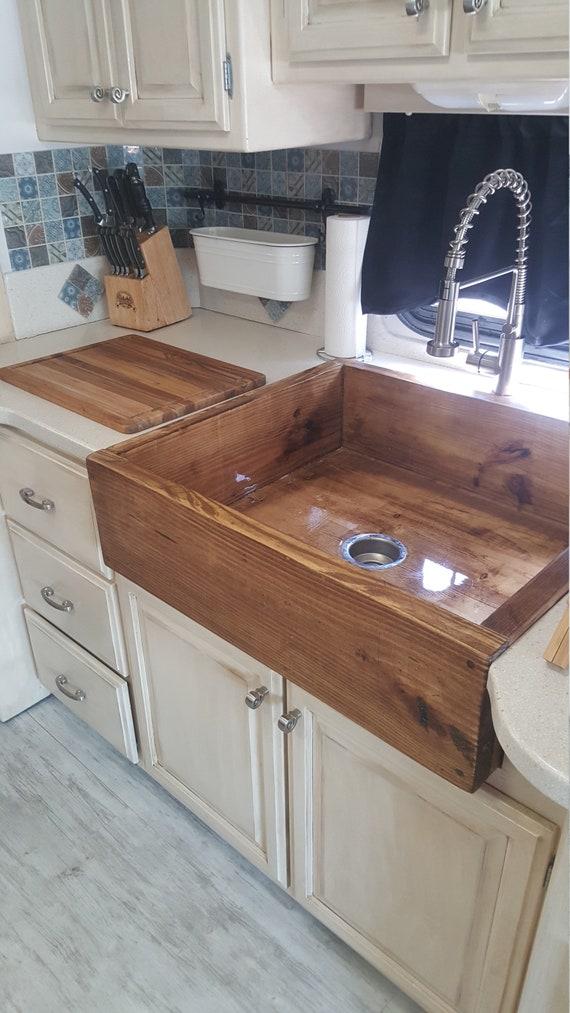 Wooden Farmhouse Style Sink